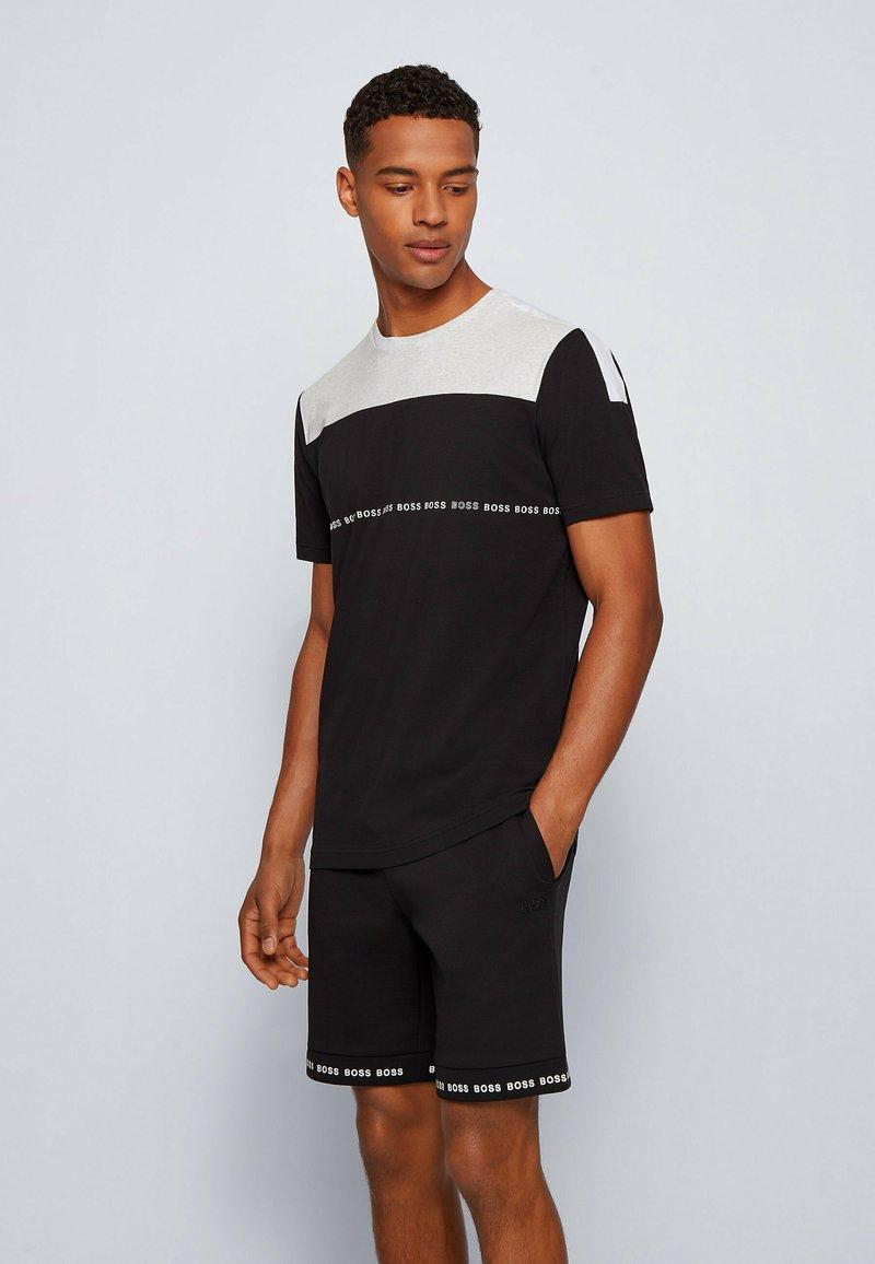 BOSS - TEE  - Print T-shirt - black