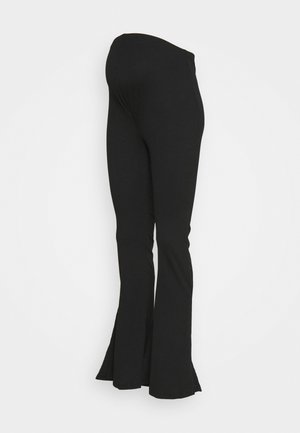SPLIT SIDE FLARES - Legging - black