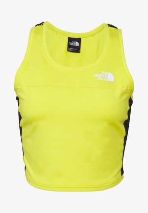 WOMENS ACTIVE TRAIL TANKLETTE - Sports shirt - lemon/black