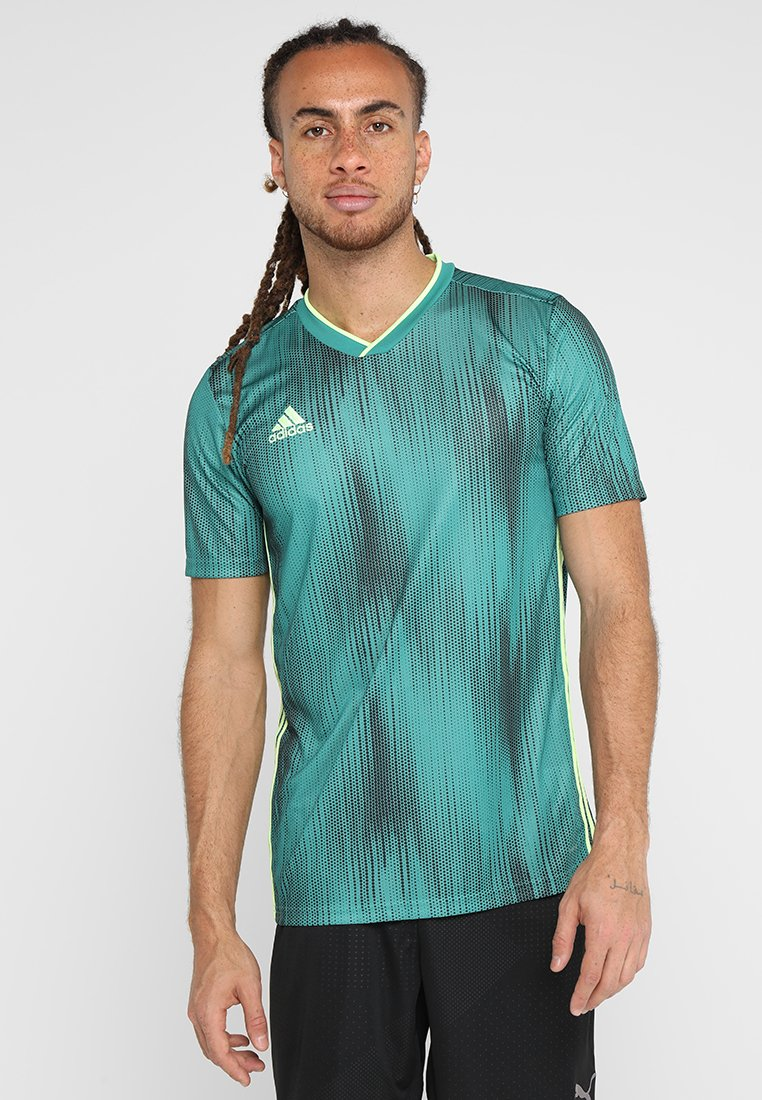 adidas Performance - T-shirt con stampa - actgreen/hireye