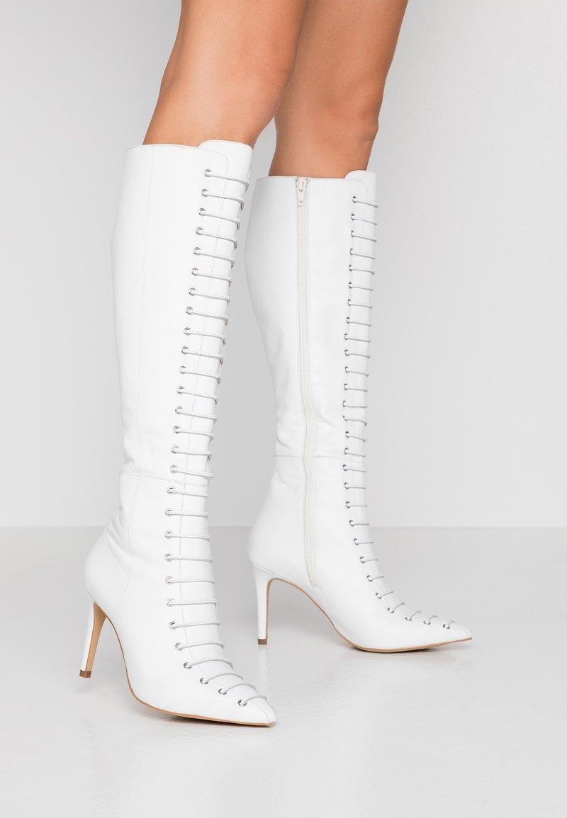 KIOMI - Bottes à lacets - white