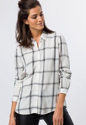 MIT WINDOW CHECK - Button-down blouse - offwhite