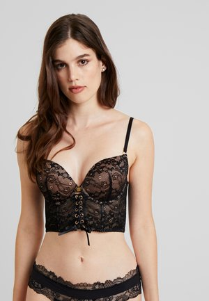 TEMPTATION BUSTIERBRA - Push-up BH - black