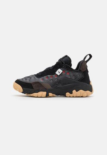 DELTA 2 - Sneakers basse - black/university red/velvet brown/ironstone/sesame/summit white
