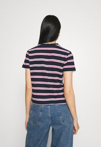 Tommy Jeans - REGULAR CONTRAST BABY TEE - Print T-shirt - twilight navy - 2