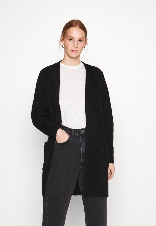 SLFLULU LONG CARDIGAN - Neuletakki - black