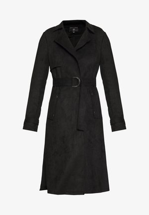 SUEDETTE DRING TRENCH COAT - Trenchcoats - black