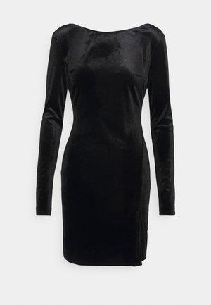 SPLIT DRESS - Shift dress - black