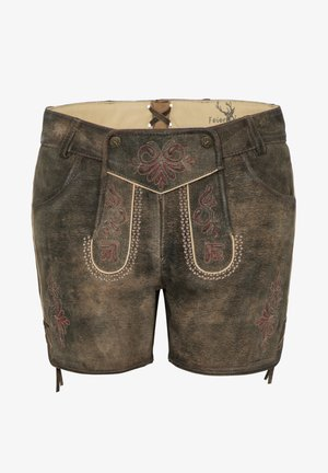 MIA - Leather trousers - braun