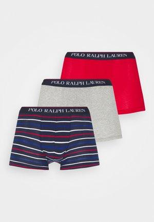 3 PACK - Pants - red/grey/dark blue