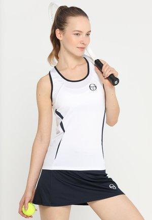 EVA TANK - Sports shirt - white/navy