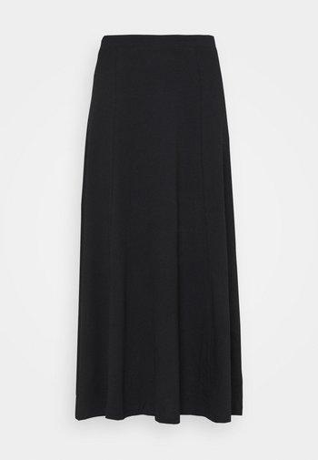 Basic maxi skirt - A-line skirt - black