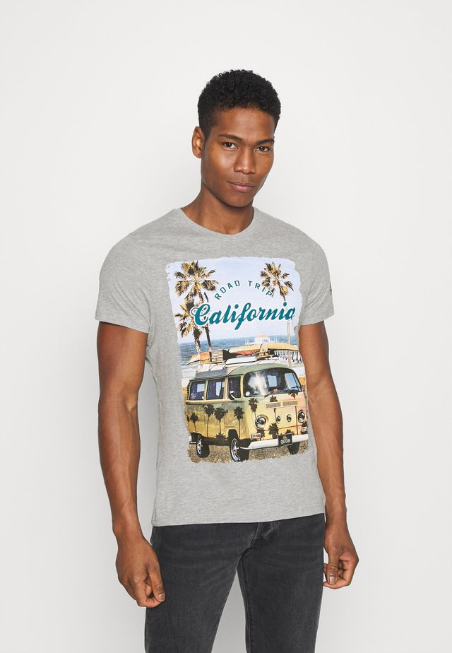 LAGOON - T-shirt z nadrukiem - grey marl
