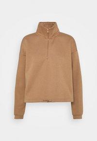 VMNATALIE HIGHNECK ZIP  - Sweatshirt - tawny brown