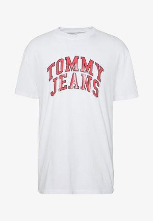 NOVEL VARSITY LOGO TEE - T-shirt imprimé - white
