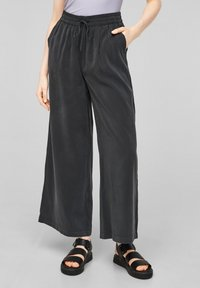 QS by s.Oliver - LOOSE FIT - Trousers - black - 0