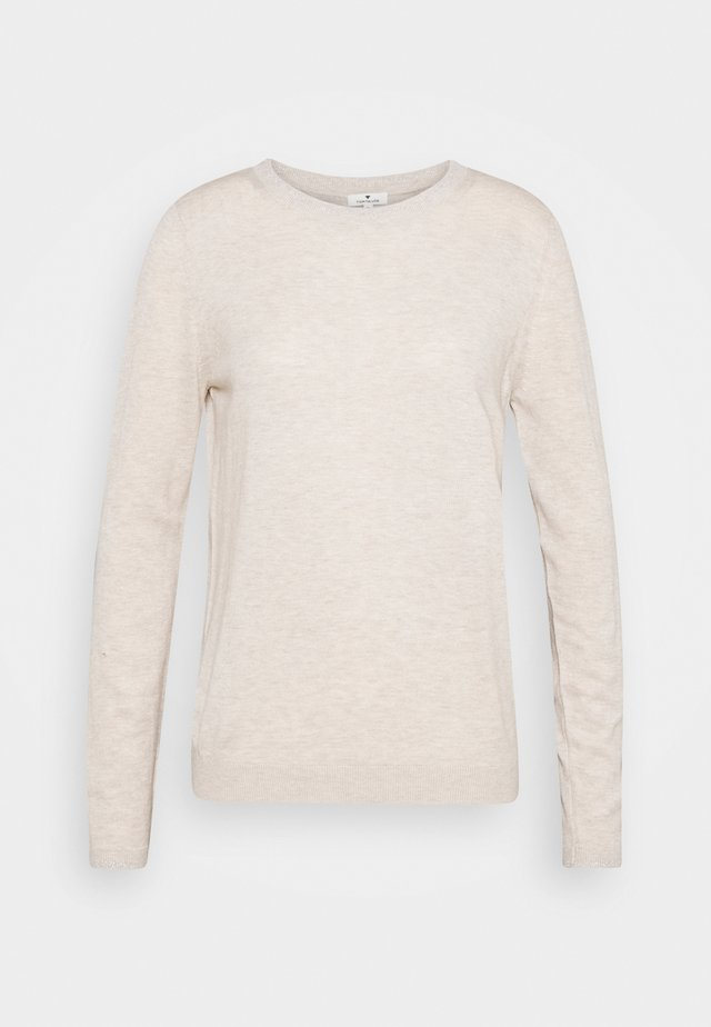 Sweter - light warm beige melange