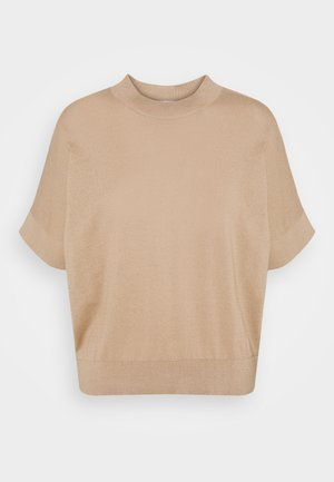 SLFMAJA O NECK - Print T-shirt - tan