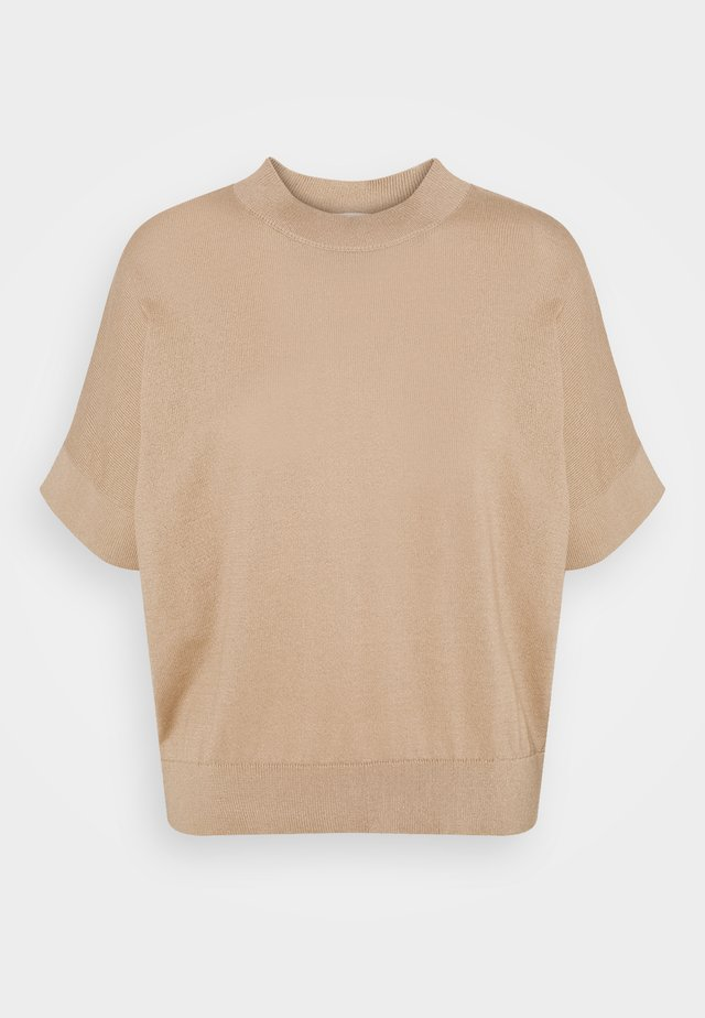 SLFMAJA O NECK - T-shirt con stampa - tan