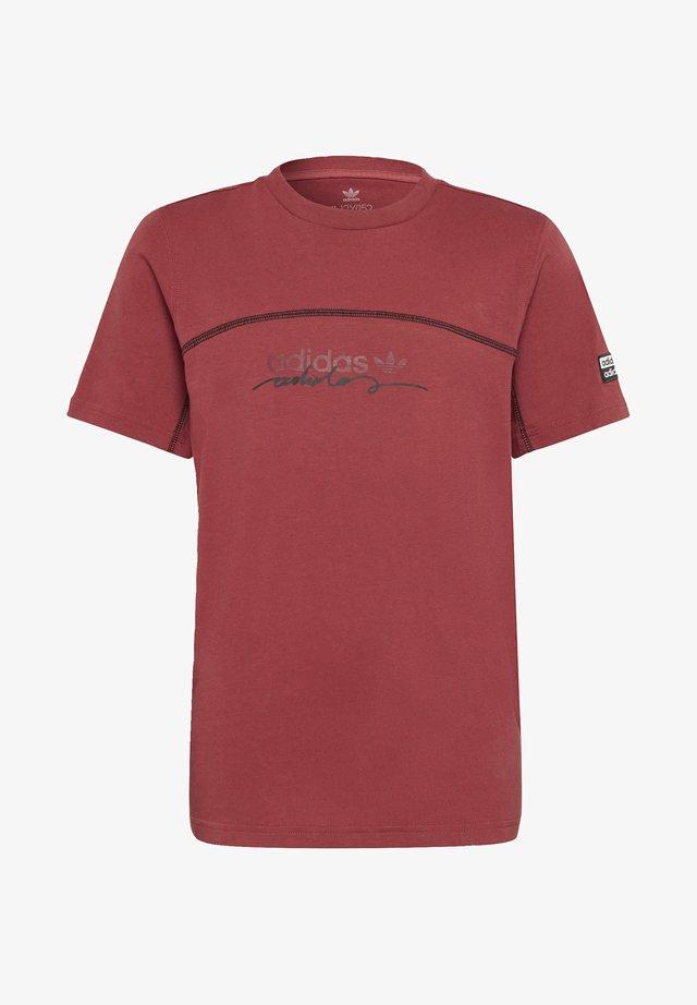 R.Y.V. T-SHIRT - T-shirt imprimé - red