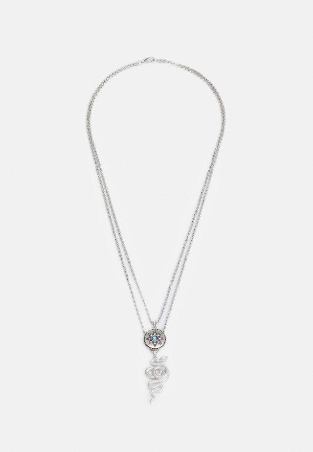 SNAKE MULTIROW NECKLACE - Collana - silver-coloured