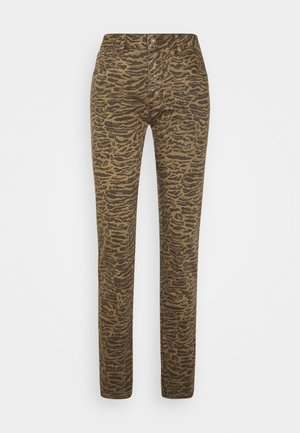 LOTTECR PRINTED PANTS  COCO FIT - Trousers - khaki tiger