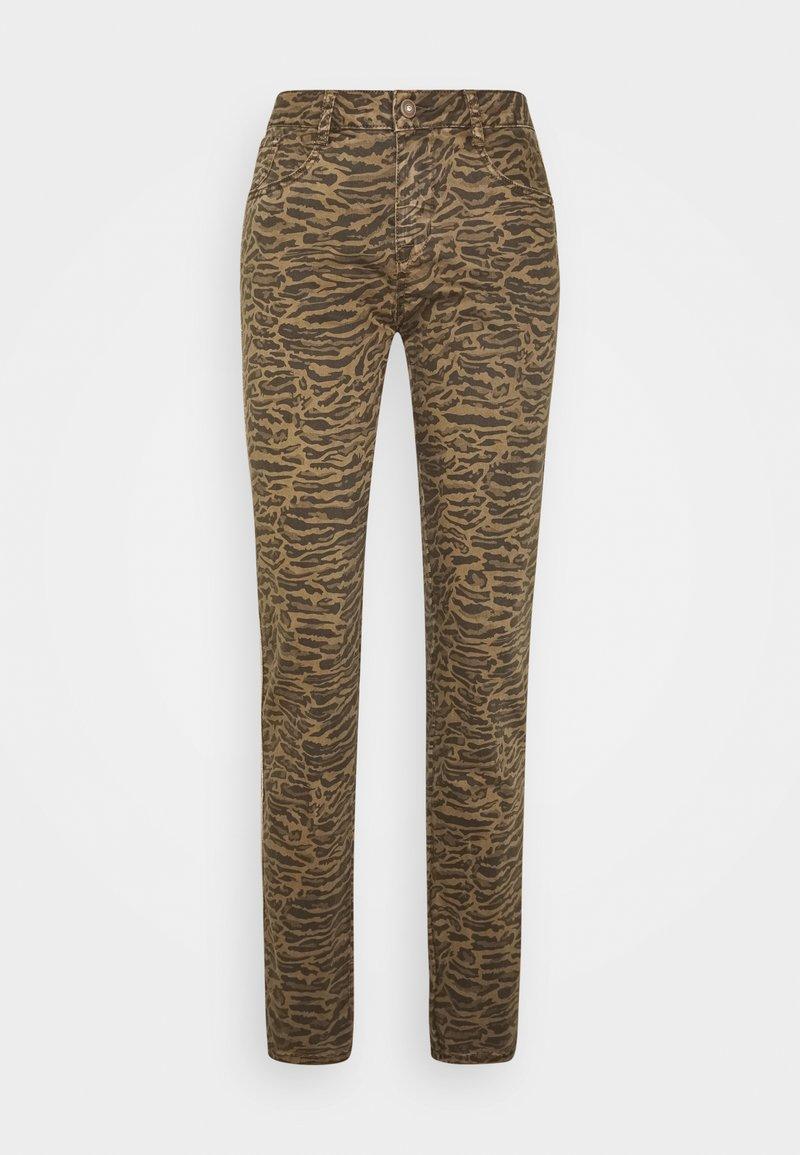 Cream - LOTTECR PRINTED PANTS  COCO FIT - Trousers - khaki tiger