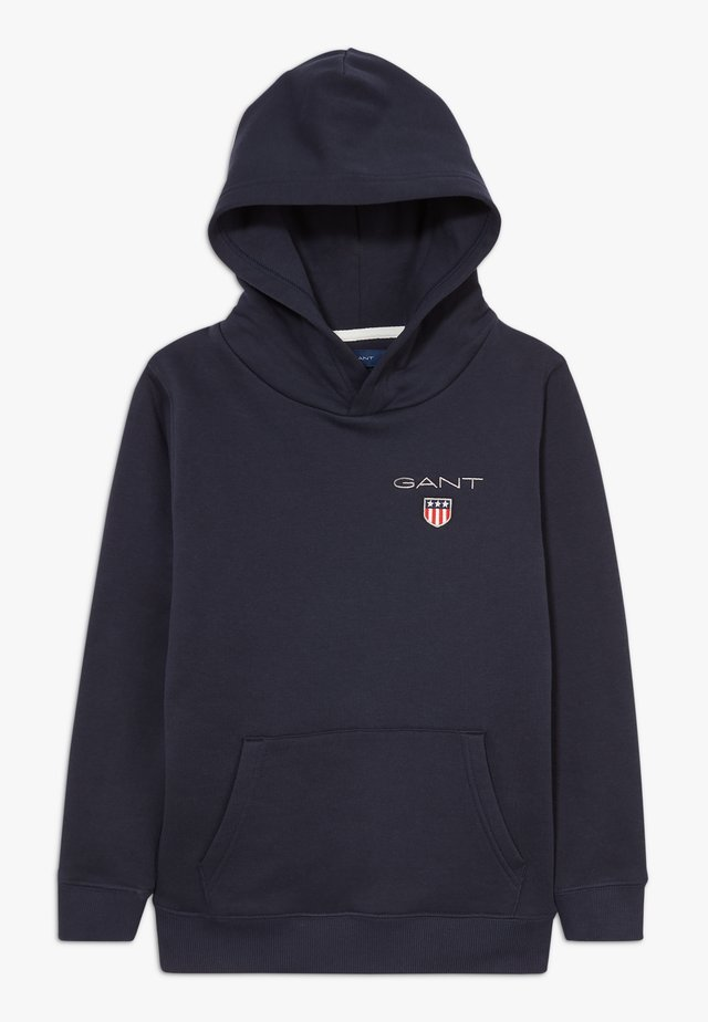 MEDIUM SHIELD HOODIE UNISEX - Huppari - evening blue