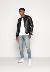 Jack & Jones PREMIUM - JPRBLUMAX JACKET - Faux leather jacket - black - 1