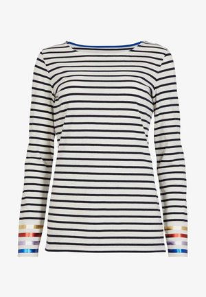 BRETON - Long sleeved top - light blue/dark blue