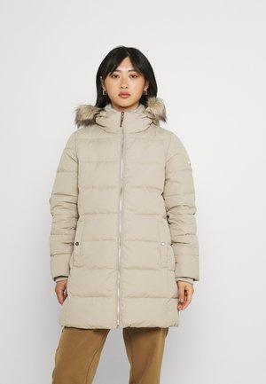 INSULATED COAT - Down coat - beige