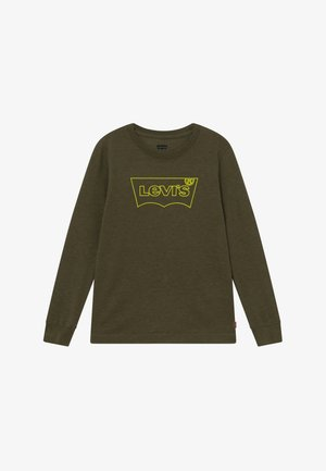 GRAPHIC TEE - Long sleeved top - olive night heather
