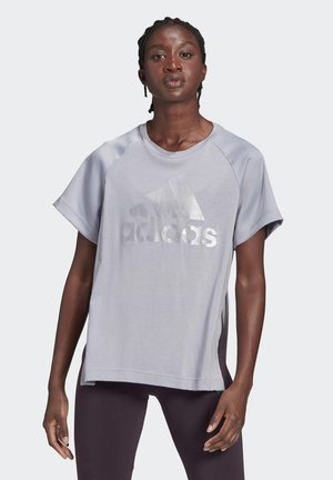 GLAM ON AEROREADY T-SHIRT - Print T-shirt - grey