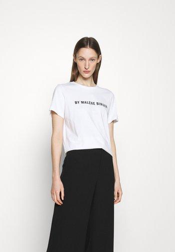 DESMOS FAYEH - T-shirt imprimé - pure white
