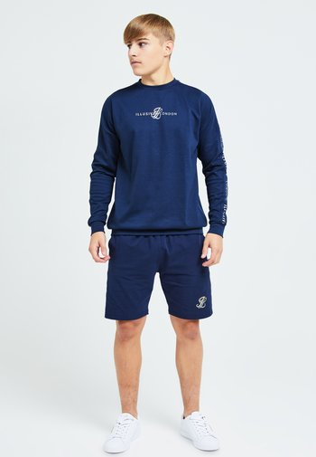 Shorts - navy & cream
