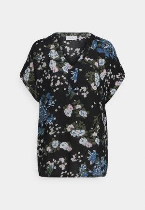 EKUA AMBER BLOUSE - T-shirts med print - black/multi color