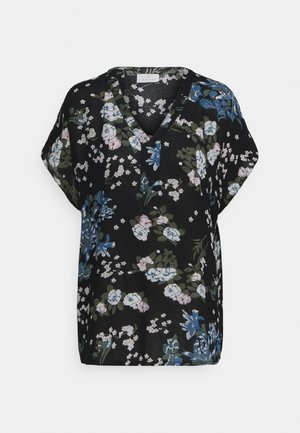 EKUA AMBER BLOUSE - T-shirt med print - black/multi color