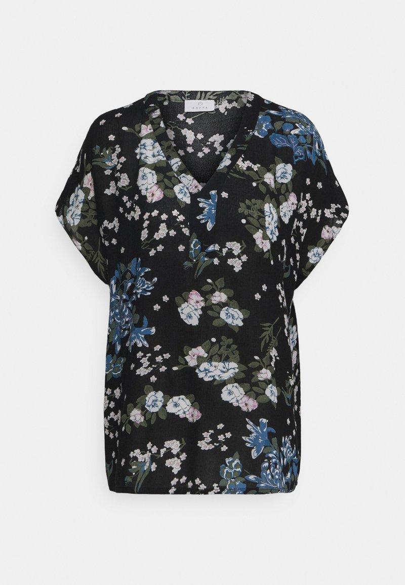 Kaffe - EKUA AMBER BLOUSE - T-shirt print - black/multi color