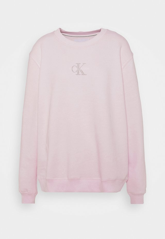 MONOGRAM LOGO CREW NECK - Bluza - pearly pink/quiet grey