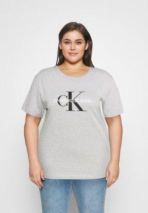 MONOGRAM LOGO REG FIT TEE - Print T-shirt - light grey heather