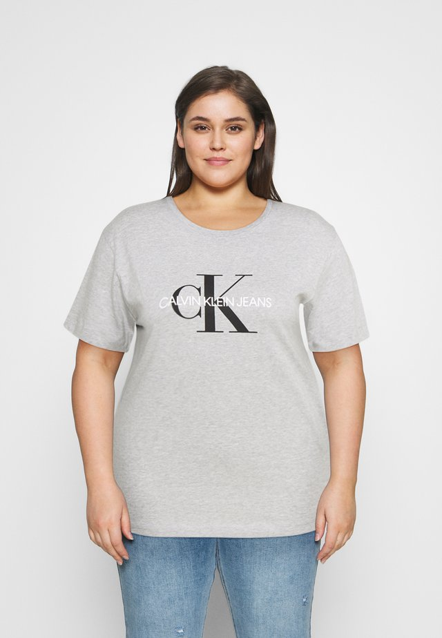 MONOGRAM LOGO REG FIT TEE - T-shirts med print - light grey heather