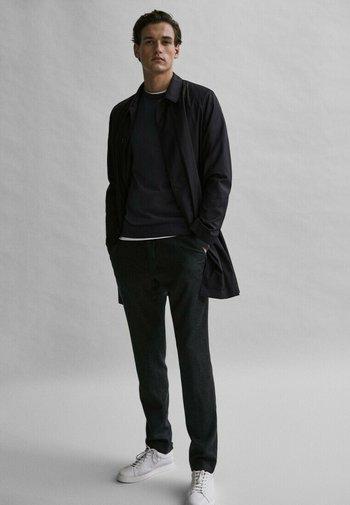 Classic coat - blue-black denim