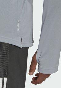 adidas Performance - OWN THE RUN RUNNING 1/2 ZIP SWEATSHIRT - Sweatshirt - grey - 4