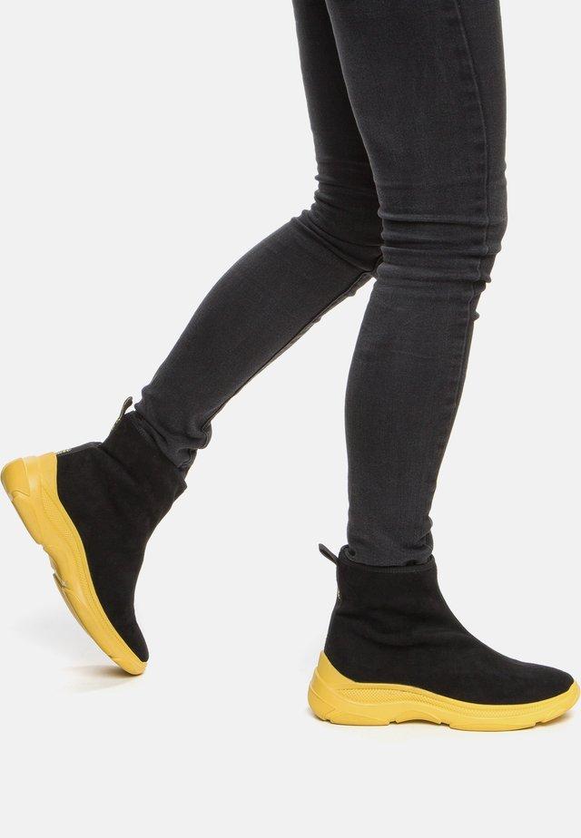 Boots à talons - black / yellow