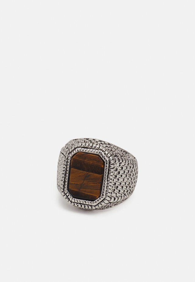 TIGERS EYE SIGNET - Ring - silver-coloured