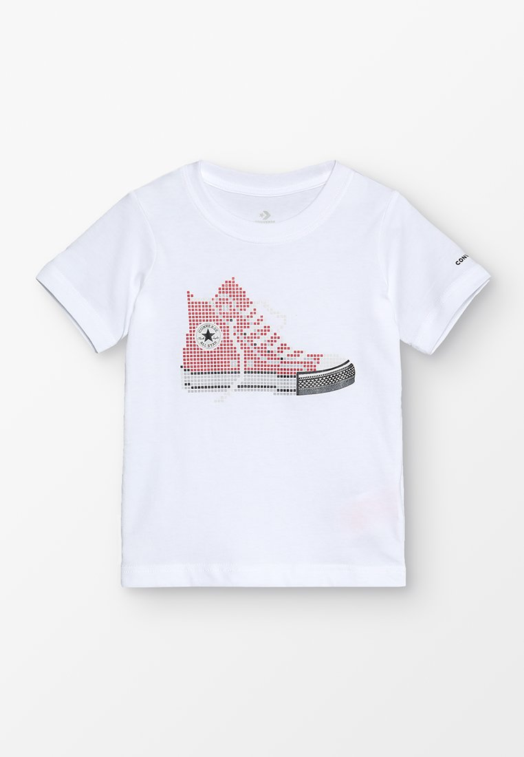 Converse - PIXEL CHUCK TEE - Print T-shirt - white