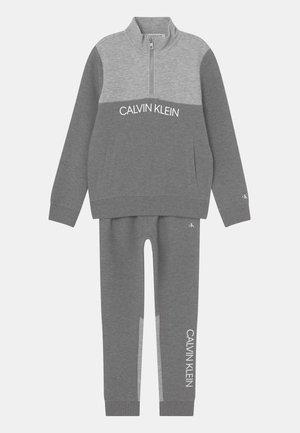 ZIP-UP SET - Tracksuit - mid grey heather