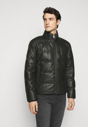 FLAME - Leather jacket - black