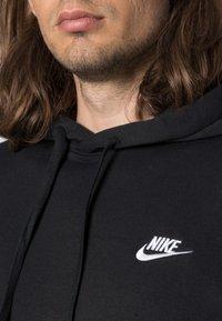 Nike Sportswear - CLUB HOODIE - Hoodie - black/white - 4