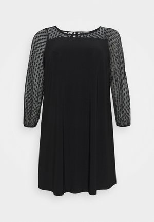 SPOT YOKE DRESS - Day dress - black